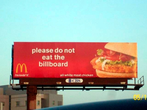McDonald's billboard ad