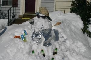 Superbowl Snowman