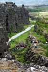 Thingvelir National Park where the Althing was held and where the tectonic plates meet