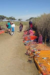 The market at the Masai village