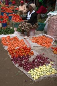 Market stall in Tanzania