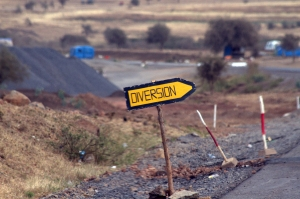 Tanzania road sign