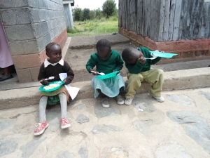 Ice cream for all the kids at the rescue center in Nanyuki.