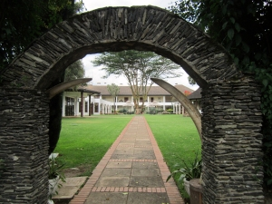 The equatorial line at the Mount Kenya Safari Club.