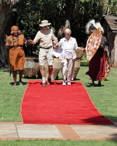 mom and dad at the crossing the equator ceremony.