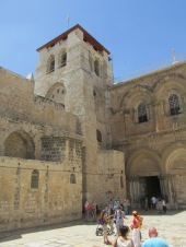 The Church of the Holy Sepulcher. You can see the ladder outside the top floor window to the right.