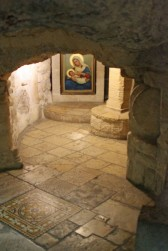 A section of the Milk Grotto.