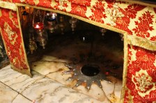 The spot under the altar marks the place of Jesus' birth.