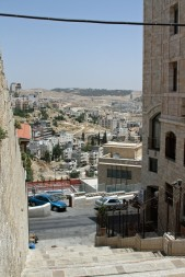 A view of Bethlehem and the hills beyond.