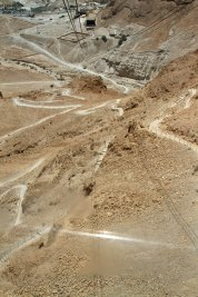 The Snake Path up the side of Masada.