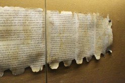 A portion of the Dead Sea scrolls at Qumran.