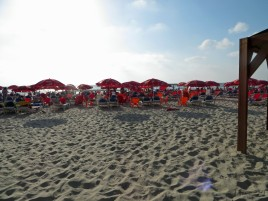 The beach in Tel Aviv.