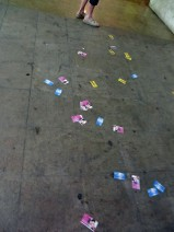 Smut cards scattered on the ground.