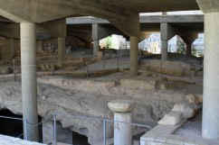 The ruins of Nazareth under the church.