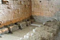 The Crusader Latrines at the castle at Akko.