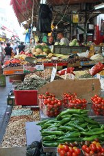 The Carmel Market in Tel Aviv.