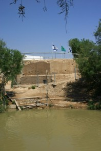 A view of the Jordan River from the Jordanian side in 2007. The Israel area was not tourist friendly back then.