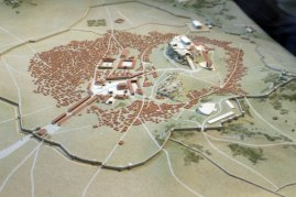 A view of ancient Athens, a model at the museum.