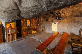 The sacred cave on Patmos. The far corner is where John fell asleep.